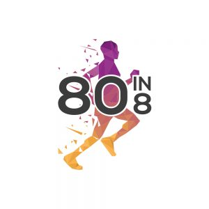 80in8 Challenge Running Logo