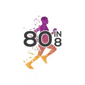 80in8 Challenge Running Logo